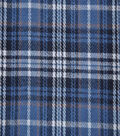 Flannel Shirting Fabric 42.9\u0022-Light Blue Navy Tan White