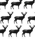 Snuggle Flannel Fabric -Buck Silhouette