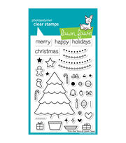 """Lawn Fawn Clear Stamps 4""""X6""""-Trim The Tree, , hi-res"""