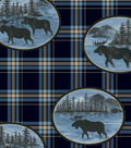 Anti-Pill Fleece Fabric -Moose Patch Plaid