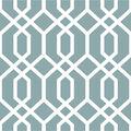 WallPops NuWallpaper Blue Montauk Lattice Peel  & Stick Wallpaper