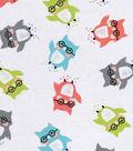 Snuggle Flannel Fabric 42\u0027\u0027-Colorful Owls in Glasses