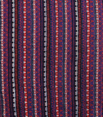 Earth Child Jacquard Apparel Fabric 56''-Linear Purple Aztec