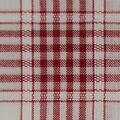 Cotton Shirting Fabric-White/Red Plaid