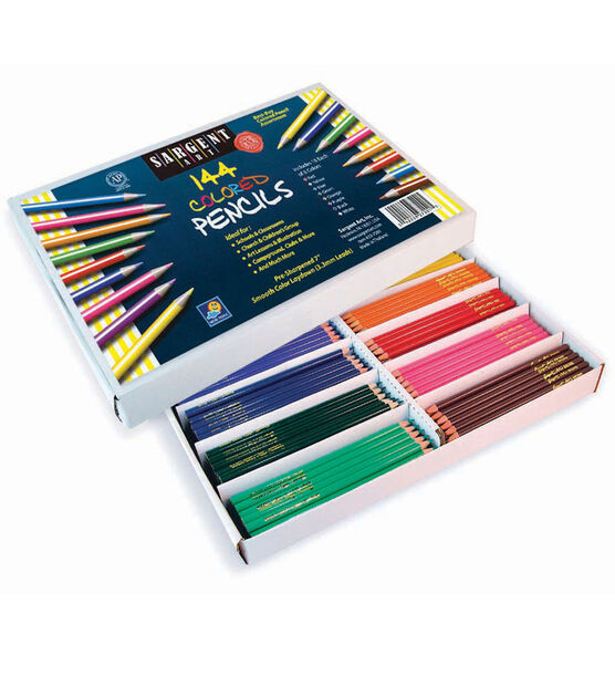 Sargent Art Colored Pencils Classroom Pack, Pack of 144 ...