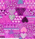 No Sew Fleece Throw 48\u0022-Hearts On Pink