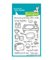 "Lawn Fawn Clear Stamps 4""X6""-Love 'n Breakfast, , hi-res"
