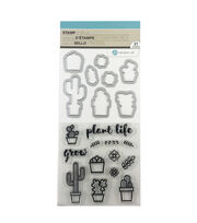 Hampton Art Clear Stamp & Die Set-Plant Life, , hi-res