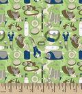 Snuggle Flannel Fabric 42\u0027\u0027-Green Hiking