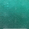 Sew Sweet Velvet Fabric-Winter Green Foil Dot