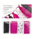 Offray DIY Ribbon Celebration Banner Kit-Bachelorette