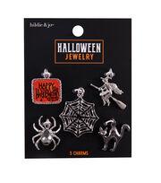 hildie & jo Halloween Jewelry 5 pk Metal Charms-Black, , hi-res