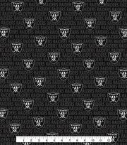 Oakland Raiders Cotton Fabric -Mini Print, , hi-res