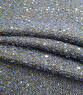 Check It Woven Boucle Fabric 57\u0022-Navy Sequin