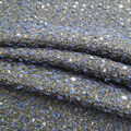 Check it Woven Boucle Sequined Fabric-Navy