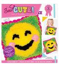 Sew Cute! Latch Hook Kit-Emoji Blush Smile