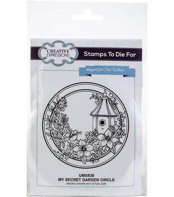 Creative Expressions Stamps To Die For Stamp-My Secret Garden Circle