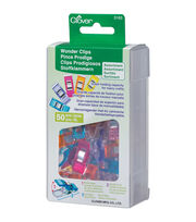 Clover Wonder Clips-Assorted Colors 50/Pkg, , hi-res