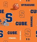 Syracuse University Orange Fleece Fabric 58\u0022-Allover
