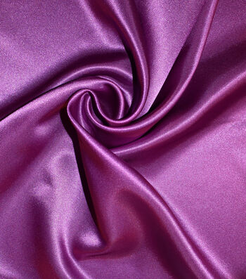 Casa Gardenia Shiny Satin Fabric 58''-Deep Orchid