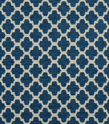 "Covington Upholstery Fabric 58""-Trellis Walk Indigo 593"