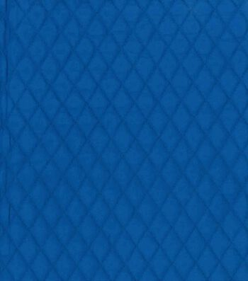 Country Classic Double Faced Quilt Cotton Fabric 42''-Royal Blue Diamond