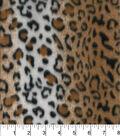 Blizzard Fleece Fabric -Cheetah Lined