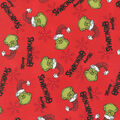 Christmas The Grinch Cotton Fabric-Merry Grinchmas on Red