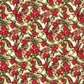 Christmas Cotton Fabric-Paisley Poinsettia Glitter