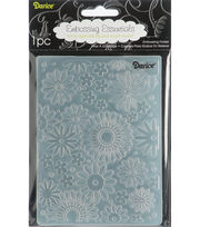 "Embossing Folder 4.25""X5.75""-Flower Frenzy Background, , hi-res"
