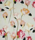 Spring Sheen Scuba Knit Fabric -Pink Tulips