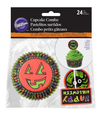 Wilton Cupcake Combo Pack 24/Pkg-Jack & Ghoul