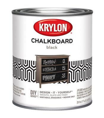 Krylon Design-It-Yourself 29 oz. Brush-On Chalkboard Paint-Black