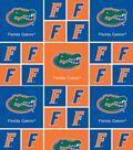 University of Florida Gators Cotton Fabric -Block