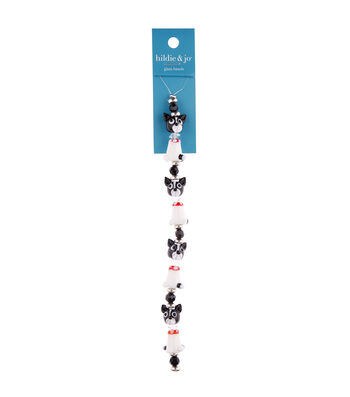 "hildie & jo 7"" Crystal Glass Dog Strung Beads"