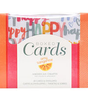 American Crafts Amy Tangerine Oh Happy Life A2 Boxed Cards & Envelopes, , hi-res