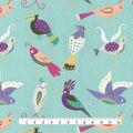 Home Essentials Decor Fabric-For the Birds on Aquamarine