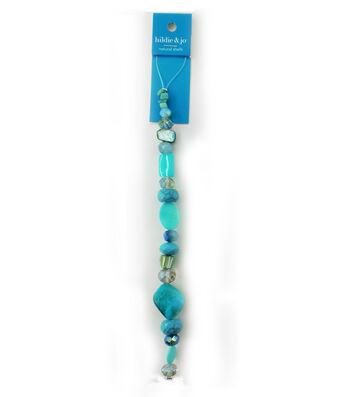 hildie & jo 7'' Shell & Glass Beads Strand-Blue