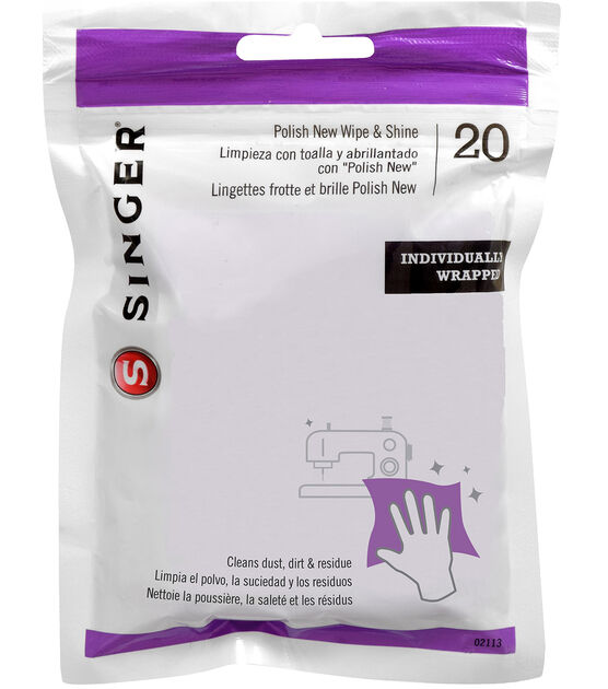 Singer Polish New Cleaning Wipes, , hi-res, image 1