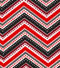 Snuggle Flannel Fabric -Dotted Chevron Red