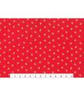 Keepsake Calico Cotton Fabric -Strawberry Gold On Red