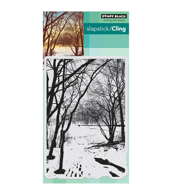 Penny Black Cling Stamps Wintry Trail, , hi-res, image 1
