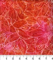 Legacy Studio Indonesian Batiks Cotton Fabric -Orange Leaves, , hi-res