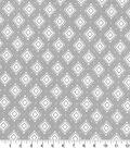 Quilter\u0027s Showcase Fabric 44\u0027\u0027-Aztec Geometric on Light Gray