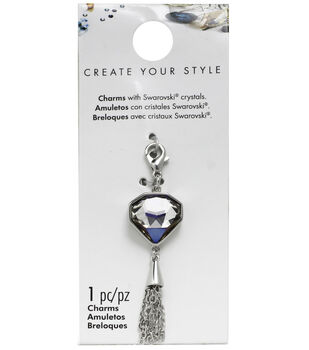 Swarovski Create Your Style Diamond Drop Charm-Crystal
