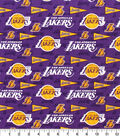 LA Lakers Cotton Fabric-Pennant
