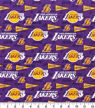 Los Angeles Lakers Cotton Fabric-Pennants