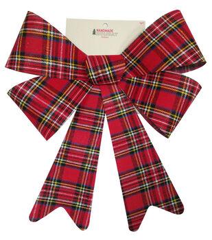 Handmade Holiday Christmas 15'' Bow-Plaid
