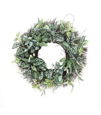 Fresh Picked Spring 21'' Foliage & Vine Mixed Wreath
