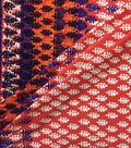 Knit Prints Rayon Spandex Fabric-Red Blue Border